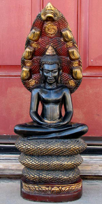 Buddha Sheltered by Muchalinda, the Naga King