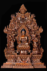Shakyamuni Buddha with Naga Kanyas on Arch