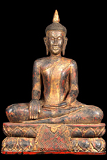 Large Earth Touching Cambodian Buddha Statue