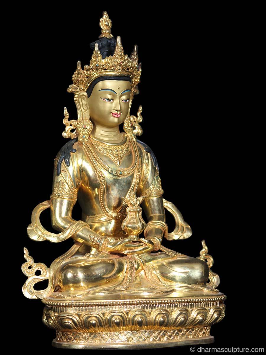 Gold Plated Aparmita Buddha Statue 13