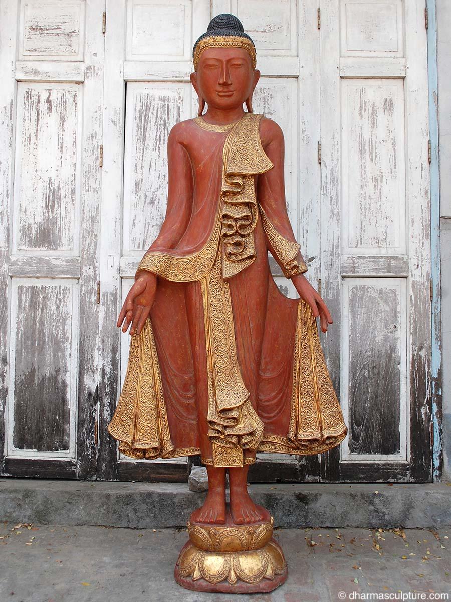 Life Size Burmese Buddha Statue (1mw25)